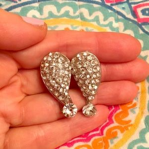 Jewelry - One-of-a-kind Exclamation Point Bling earrings!!!